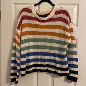 AE multi-colored stripe sweater